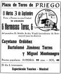749-750. 150807.78. Cartel de toros del año 1957.